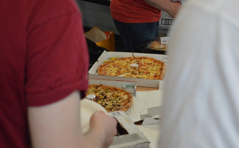 This is as close as I could get to the Pizza – hungry coders