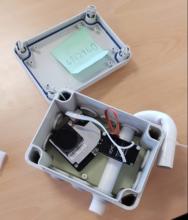 An air quality monitor