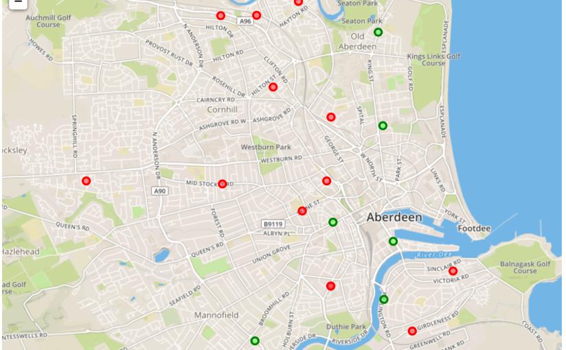 Sensor locations