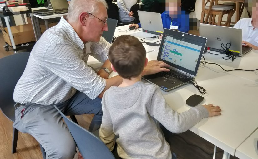 Mentoring young people at our code club