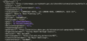 Surrey Planning API – json code
