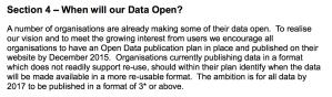 Screenshot of SG's Open Data Strategy 2015