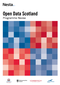 Cover of the Nesta Open Data Scotland report