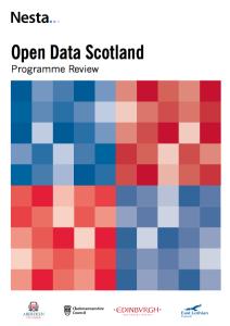 Cover of the Nesta Open Data Scotland report