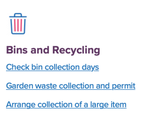 ACC Bins and recycling