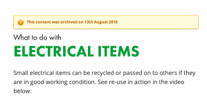 Recycle For Scotland Archived content