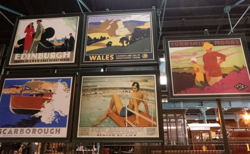 Photo of various railway posters taken at National Railway Museum York