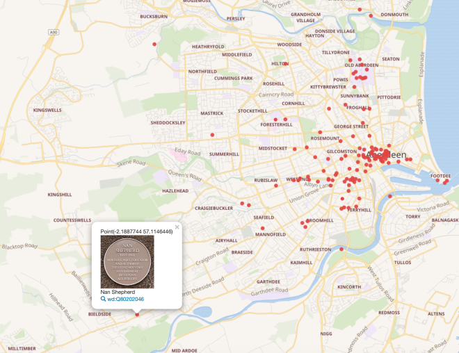 Plaques - map view