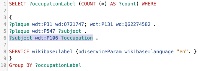 Plaques - Using Count()