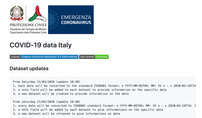 Italian government GitHub repo