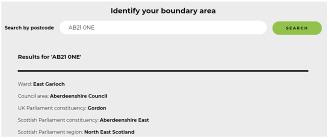 Querying the Boundary Commission for Scotland website